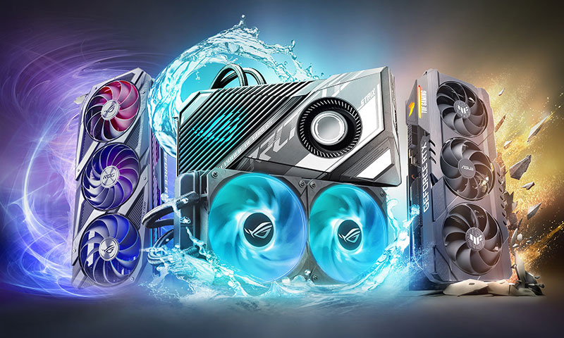 GeForce RTX 3080 Ti and RTX 3070 Ti cards from ROG and TUF Gaming rise to new heights