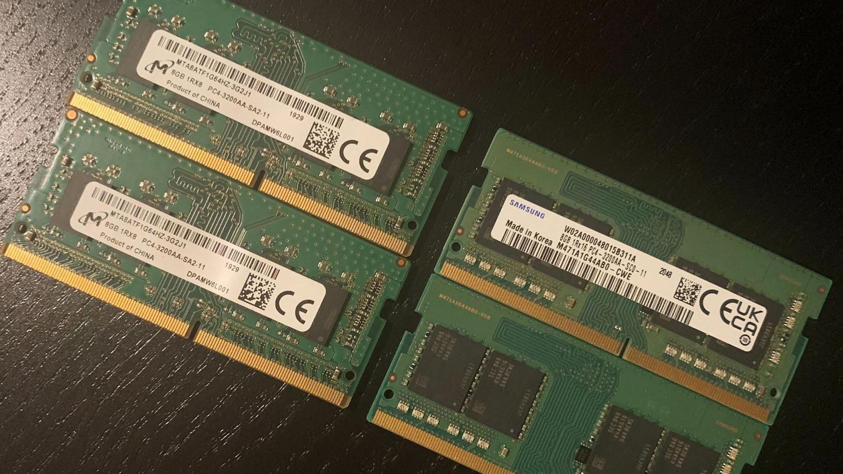 1RX8 vs 1RX16 Memory