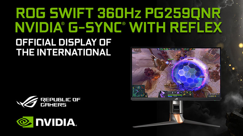 The ROG Swift 360Hz PG259QNR helps pros raise their game at The International 10